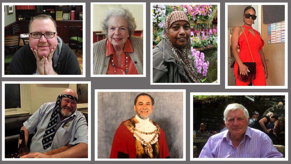 Composite of seven coronavirus victims