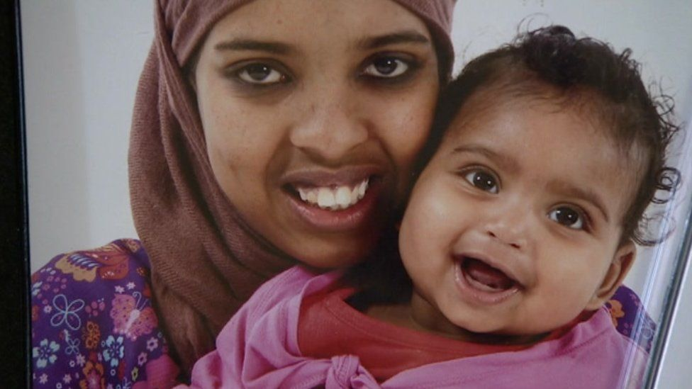 Amal Abdi and her daughter