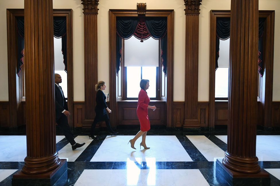 Pelosi heads to the House in December 2018