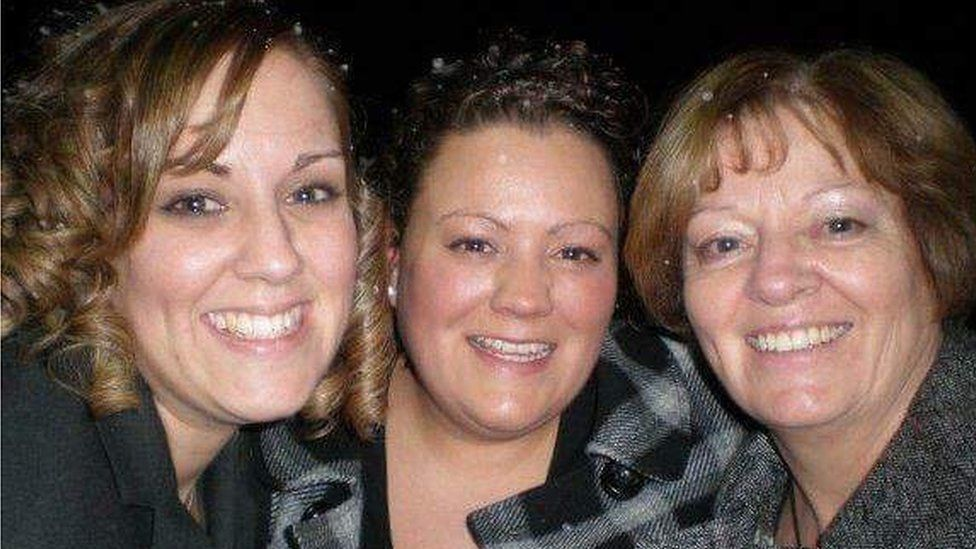 Shirley, daughter Rhiannon, and Bethan's friend Sarah