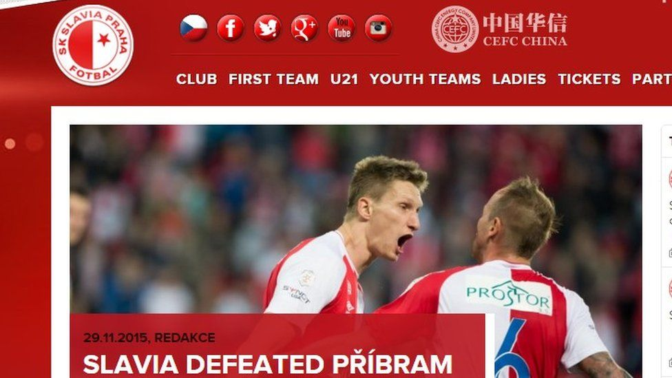 Slavia Prague website