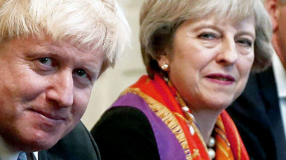 Boris Johnson and Theresa May