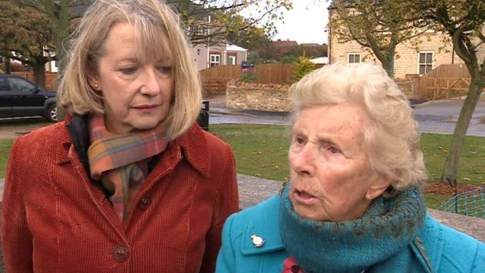 Doreen Murley and a friend
