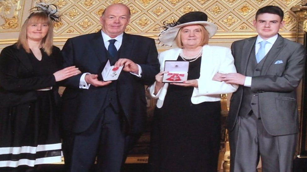 Wendy and Steve Taylor received an MBE for services to young people in Swansea
