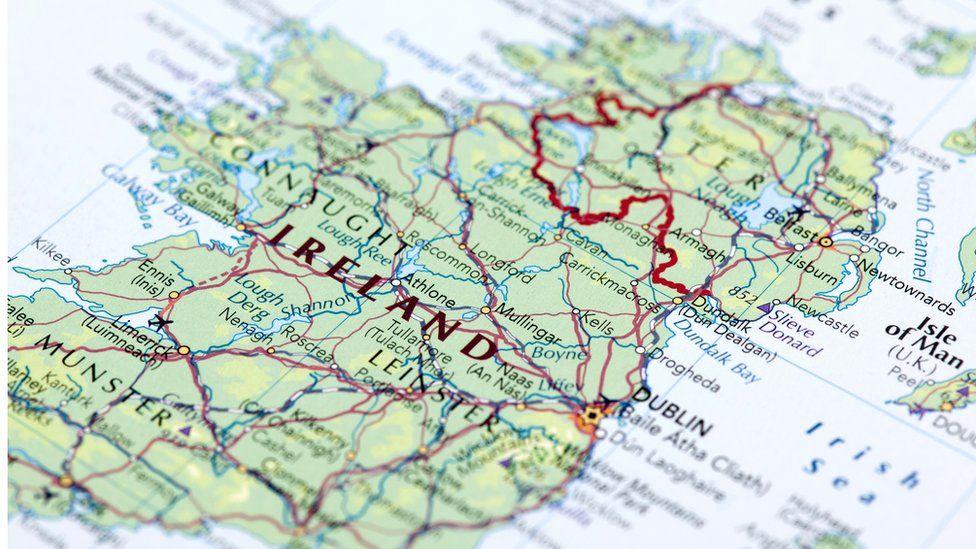 Irish border stock image