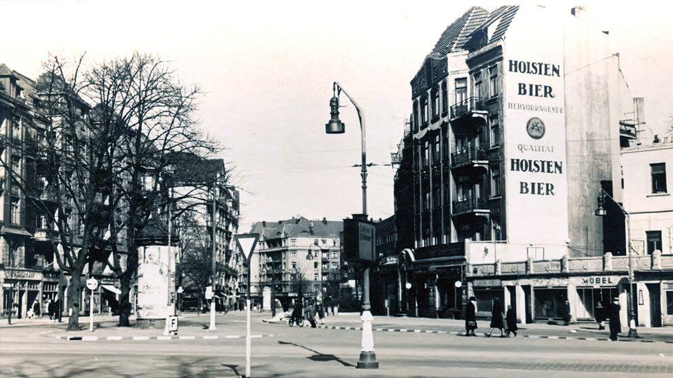 Hamburg street before bombing
