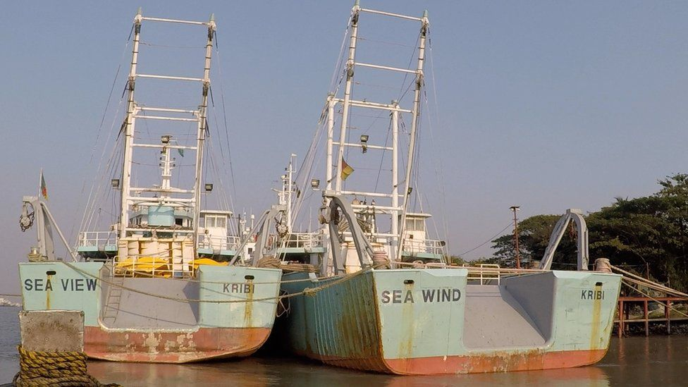Industrial trawlers Sea View and Sea Wind in Chittagong
