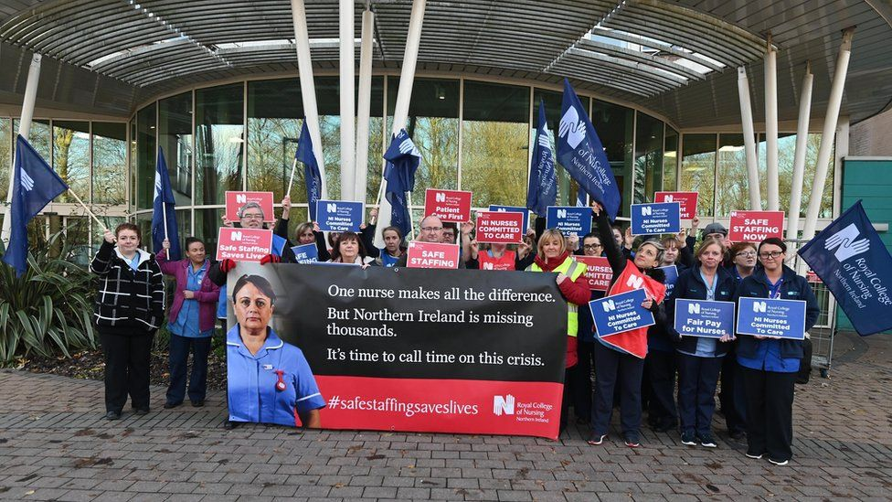 It is the first time members of the Royal College of Nursing in NI have voted for strike action
