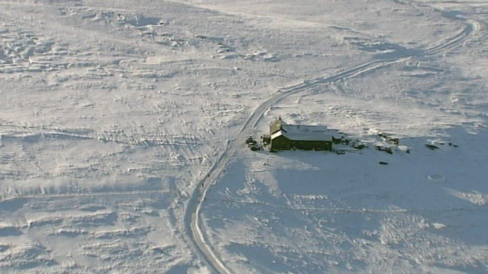 Tan hill aerial view in 2009