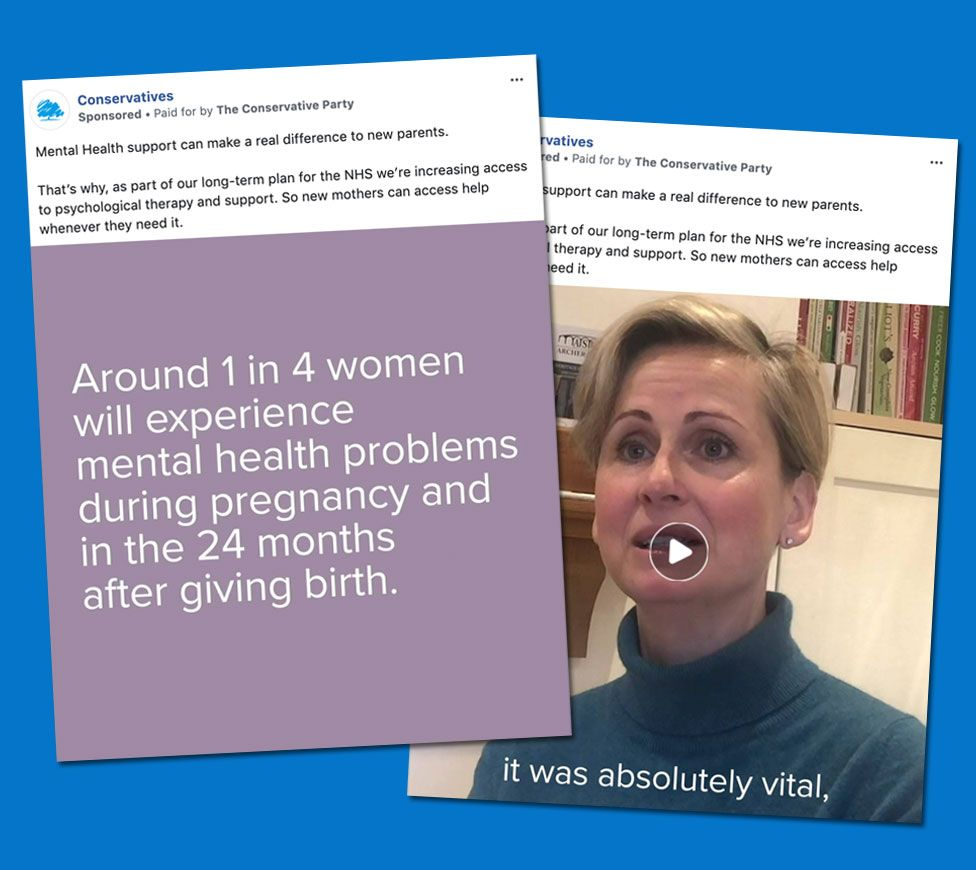 Mental health adverts on Facebook