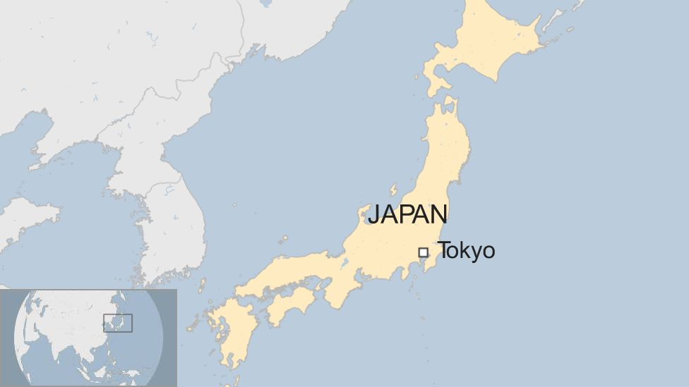 Map of Tokyo, Japan