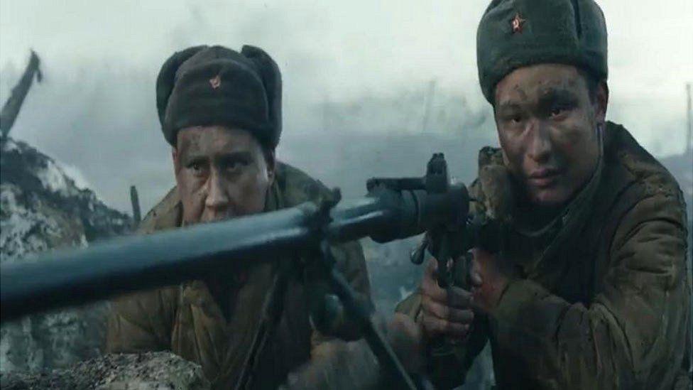 Still from the film Panfilov's 28 Men (courtesy of: Panfilov's 28 Men / Andrey Shalopa, Kim Druzhinin / Lybian Palette Studios Gaijin Entertainment)