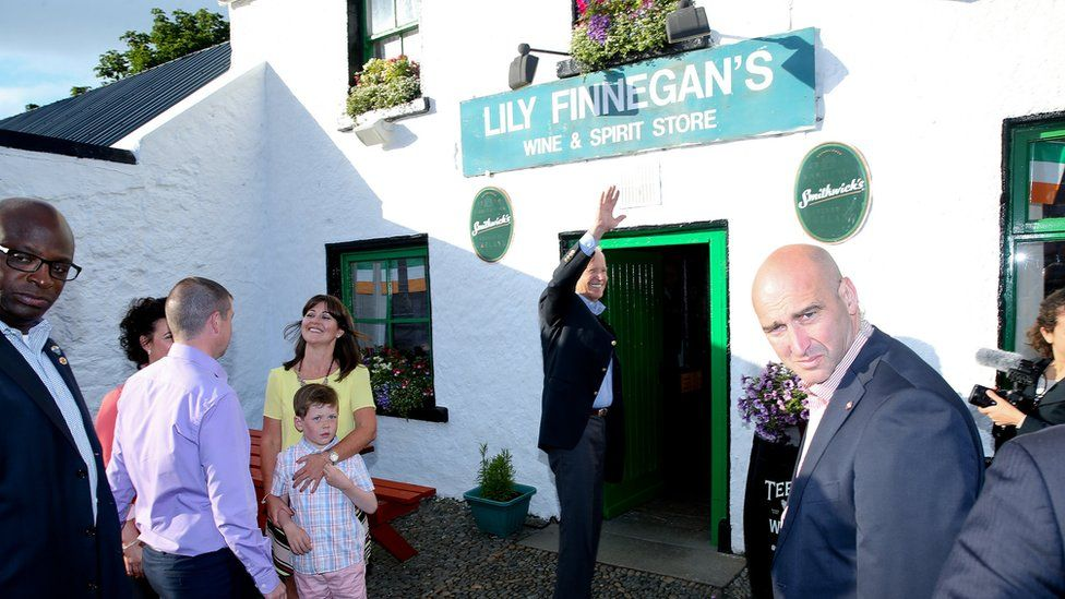 Mr Biden - whose Finnegan ancestors hailed from the Cooley peninsula, visited Lily Finnegan's pub in the area in 2016