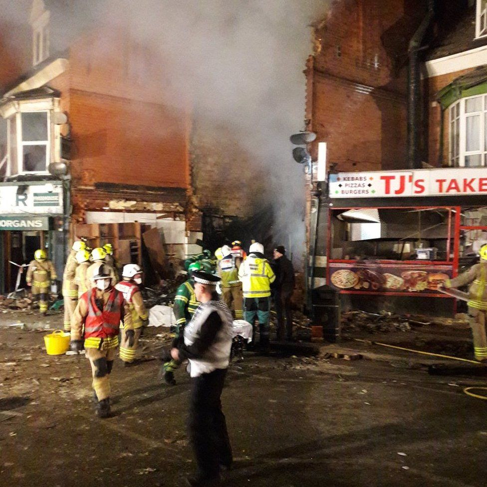 Leicester explosion aftermath