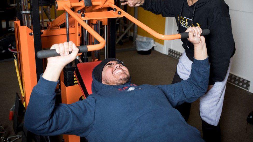 Shehbaaz lifting weights