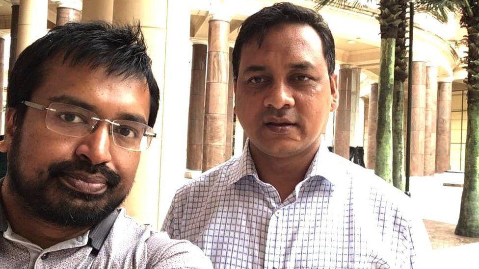 Dr Enam Haque (L) and Moyeen Uddin (R)
