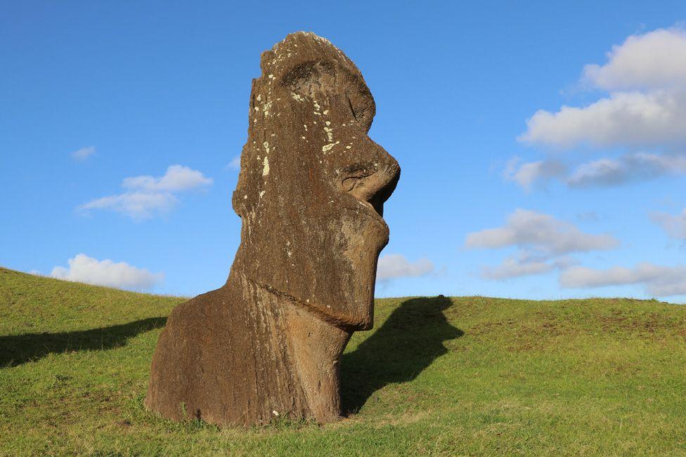 A moai on Rapa Nui