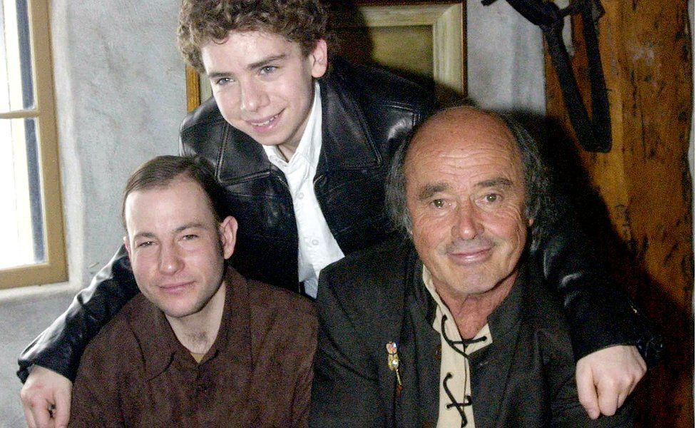 Actor Marc Donato, top, with David Marenger and Georges Brossard in 2004