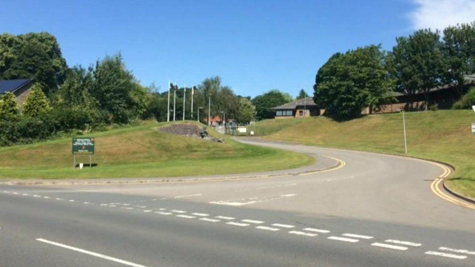 Dering Lines entrance in Brecon