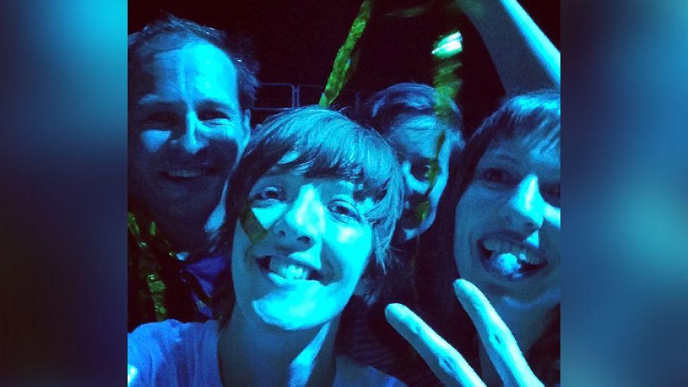 Anna Doble at an Arcade Fire gig