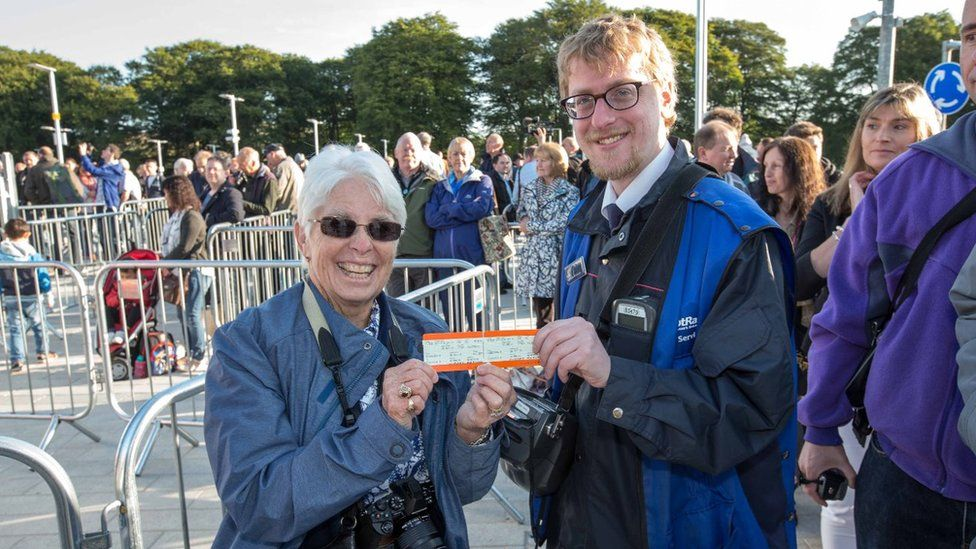 First passengers with tickets for Borders Railway