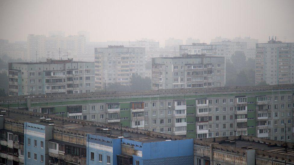 Дым от пожаров в Кемерово