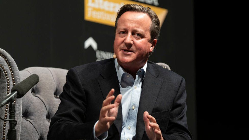 David Cameron at 2019's Cheltenham Literature Festival
