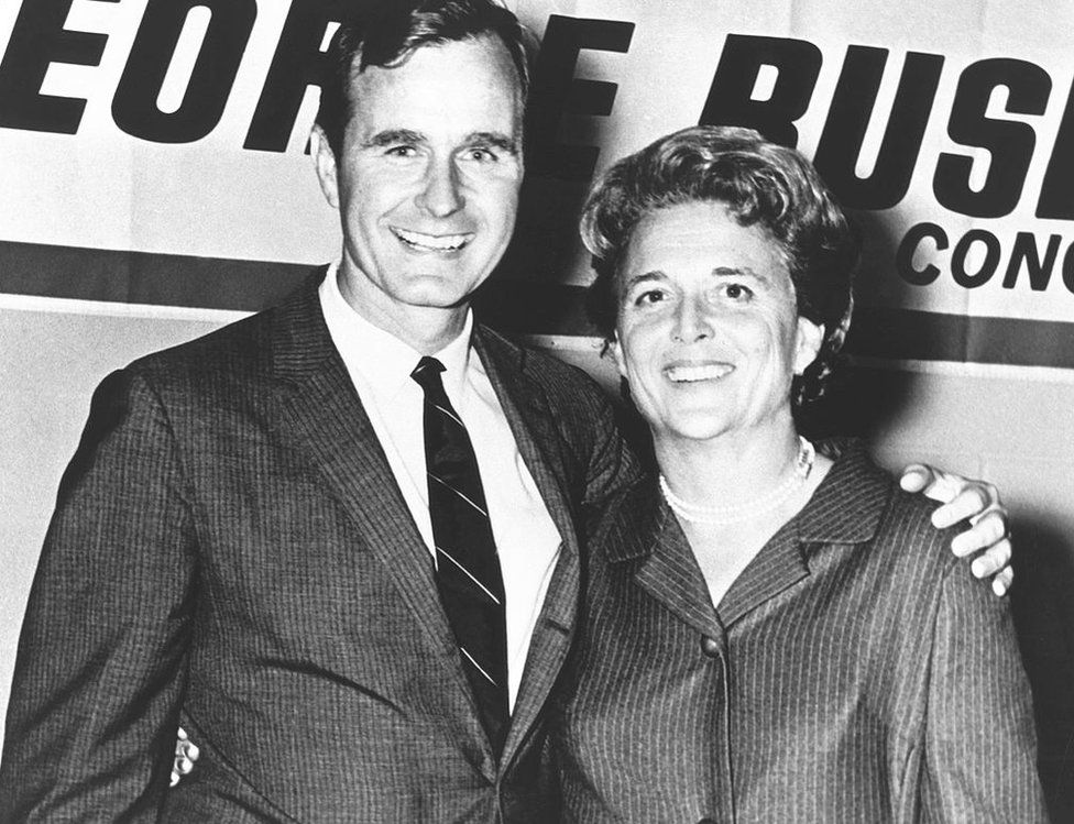 George and Barbara Bush in the 1960s
