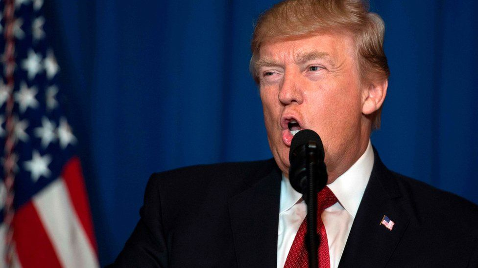 Donald Trump delivers statement on Syria