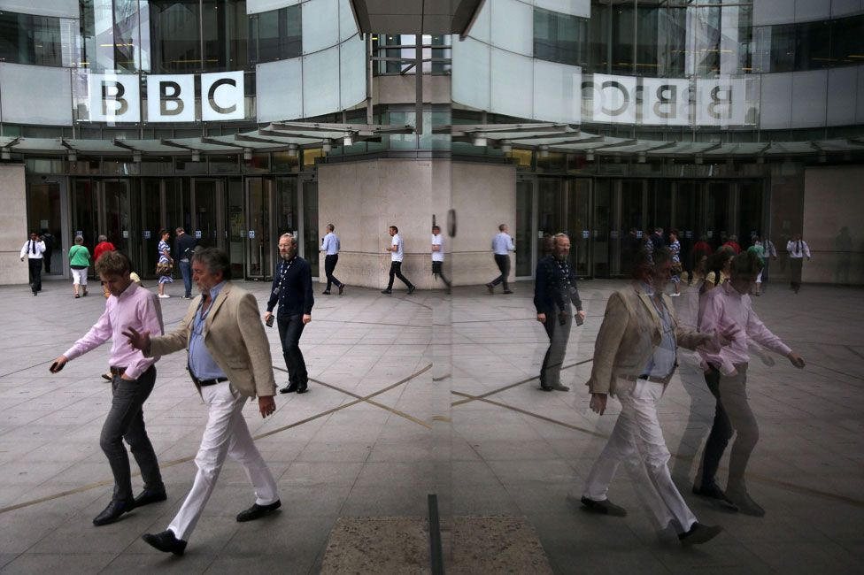 Outside BBC Office
