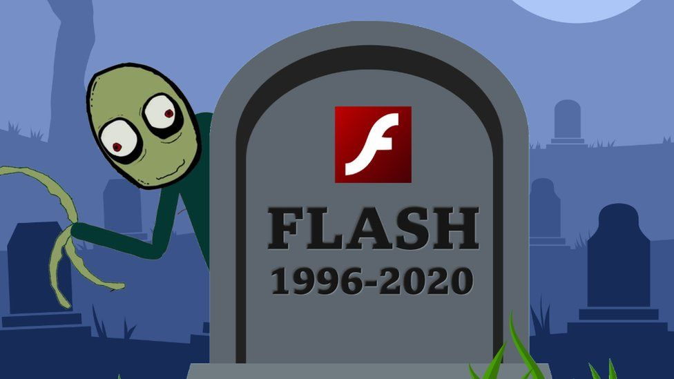 The Flash logo on a gravestone