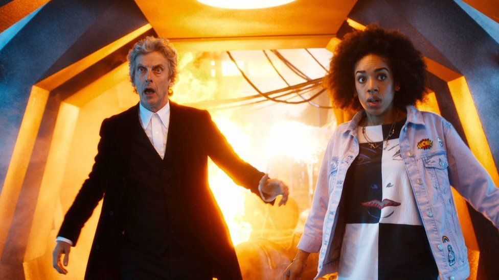 Peter Capaldi and Pearl Mackie as new companion Bill Potts