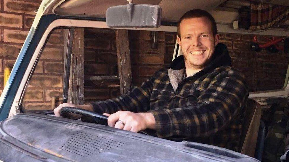 Frazer Golden in his campervan