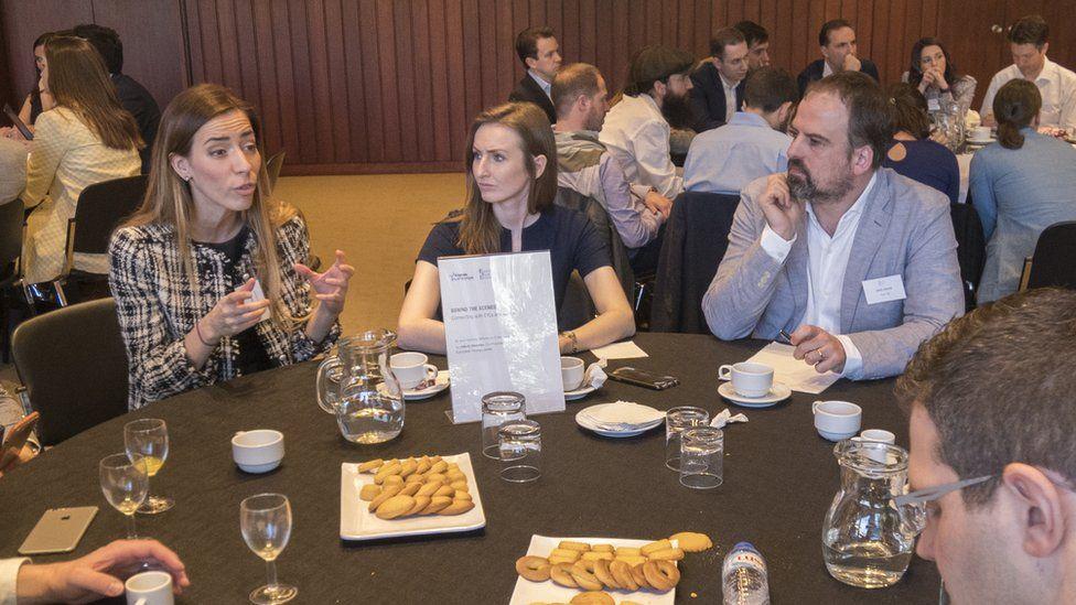 In 2017, Eleni Antoniadou took part in a Lisbon seminar for European Young Leaders