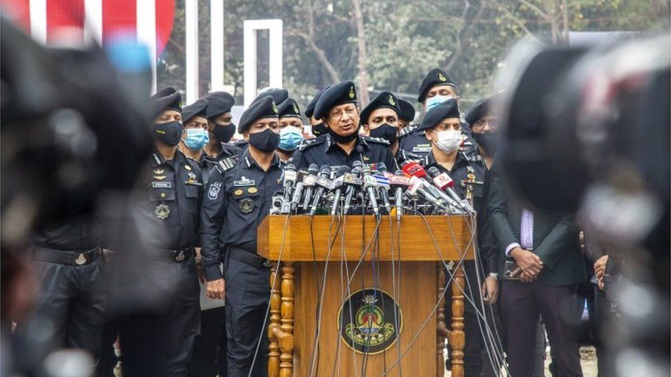 """The Rapid Action Battalion marking """"Martyrs' Day"""" in Dhaka on 20 Feb 2021"""