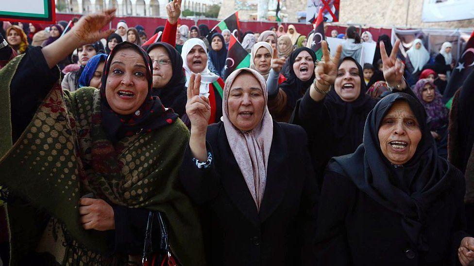 Libyan women in protest