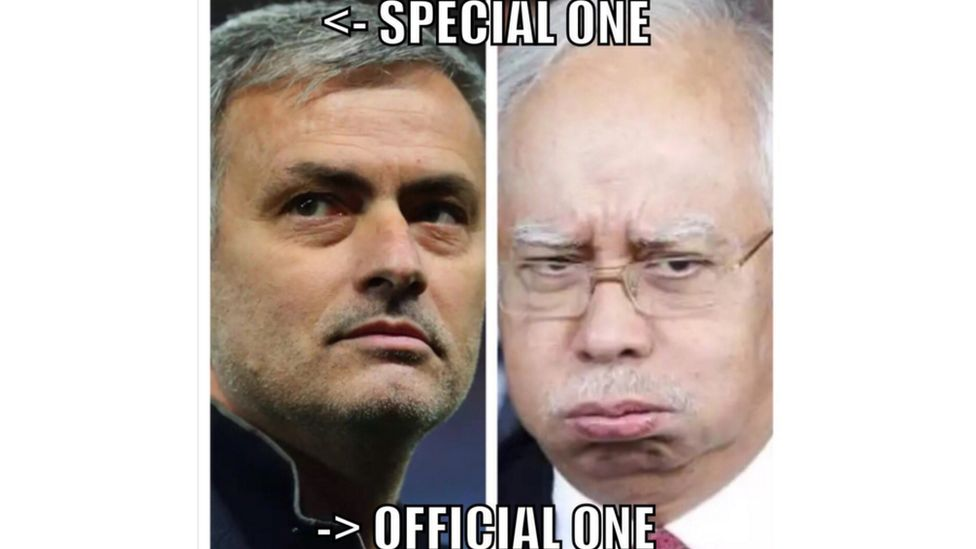 """Jose Mourinho is the """"Special one"""", with Najib being the """"official one"""""""