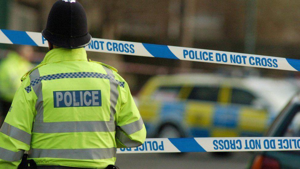A police cordon