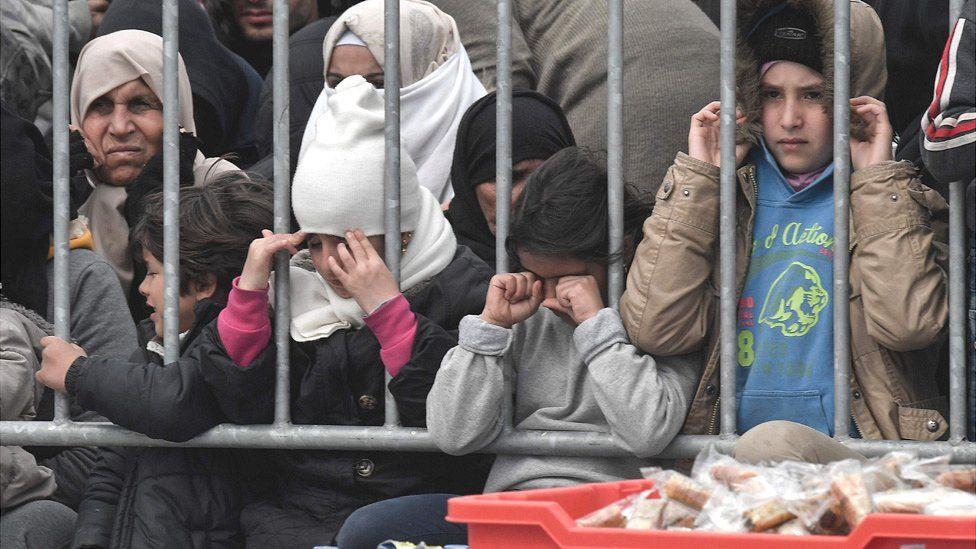 Migrants in Lesbos, 4 Mar 20