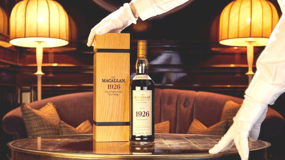 The Macallan 1926 Fine and Rare 60 Year Old whisky which is up for auction