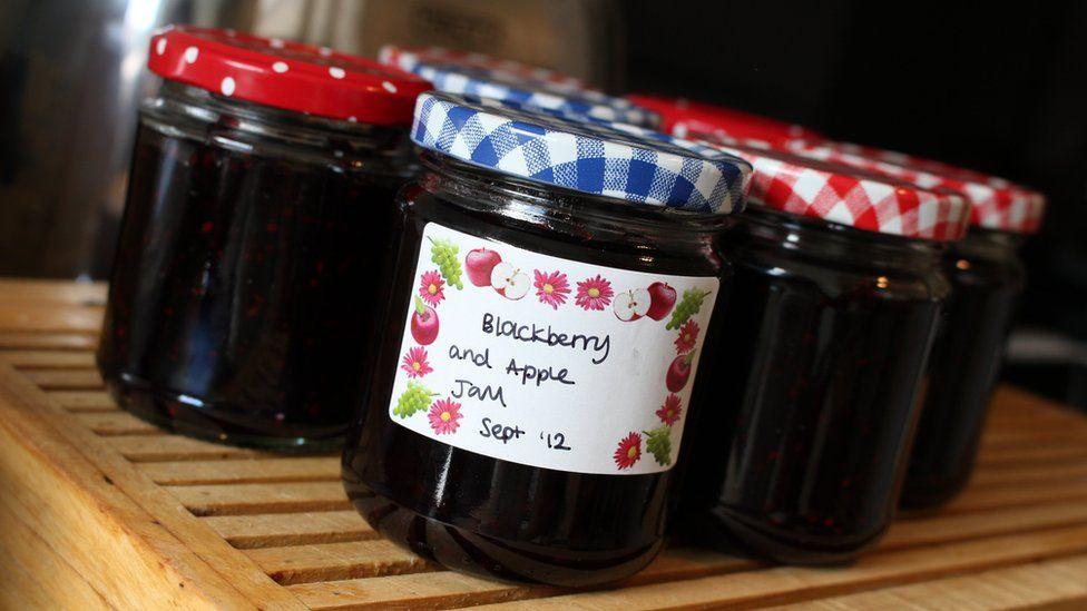 Image of several jars of jam - 2012