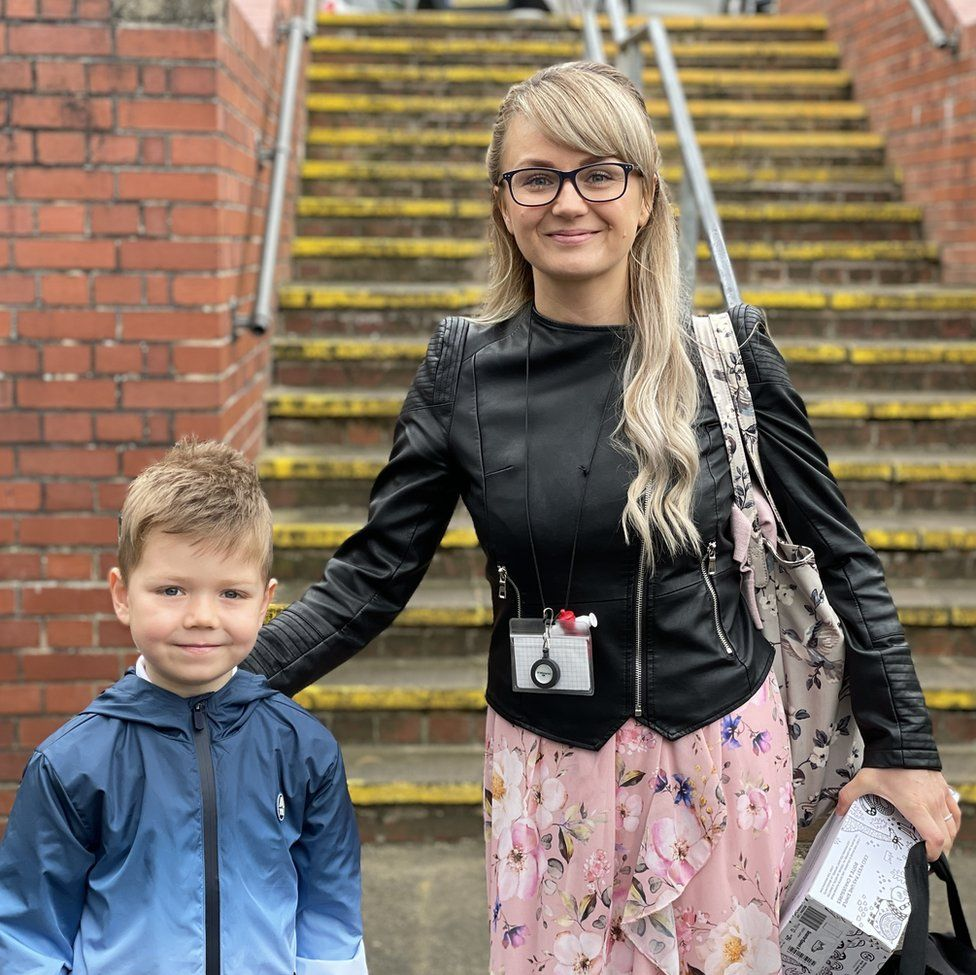 Milena and her son Erik