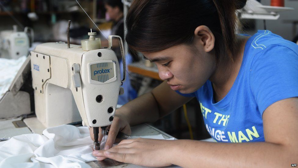 Textile worker in Hanoi, Vietnam - file pic