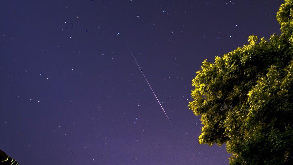 Perseid meteor shower in Normanton, West Yorkshire