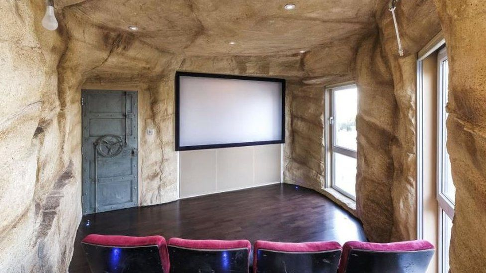 London penthouse with cave-themed cinema room
