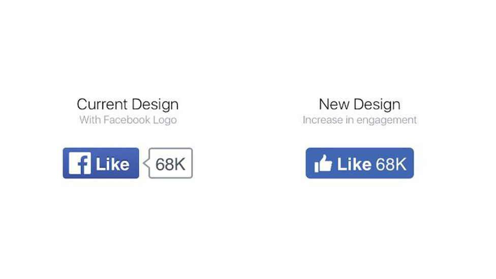 Old and new Facebook like buttons