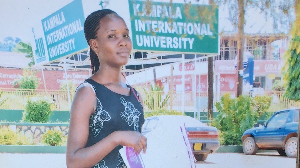 Sylvia Yeko at Kampala University