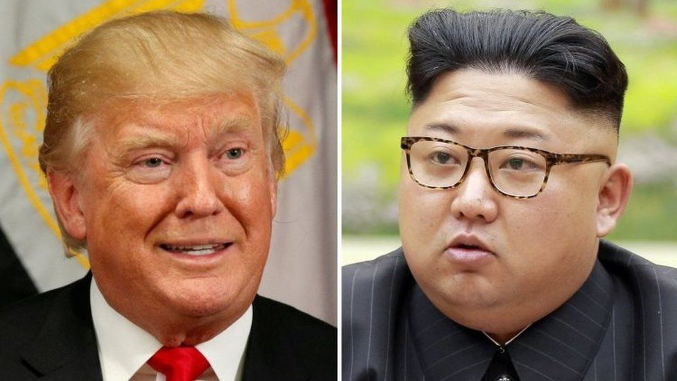 A combination photo of Donald Trump and Kim Jong-un