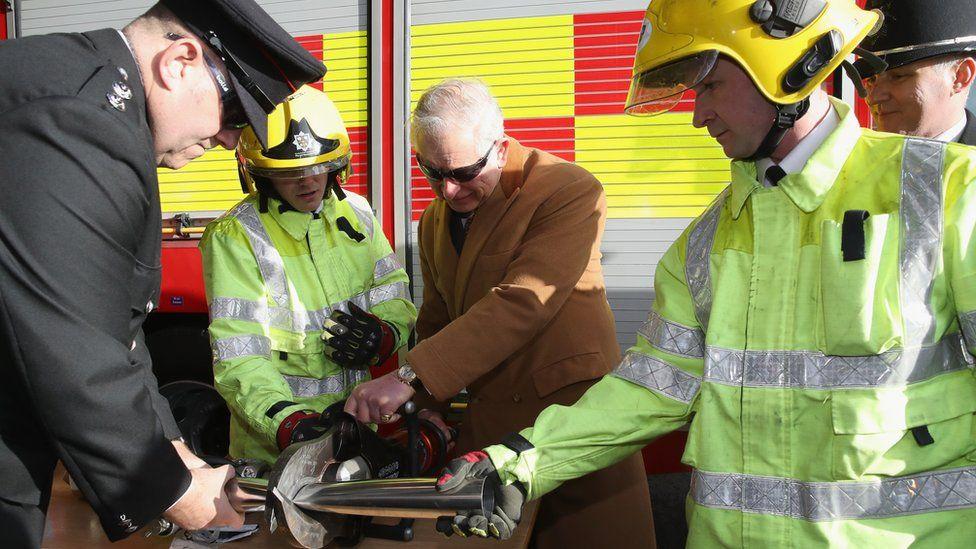 Prince Charles at Barnard Castle emergency services hub