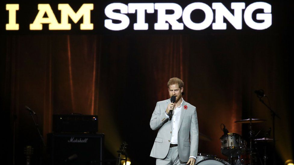 Prince Harry at the Invictus Games closing ceremony 2018